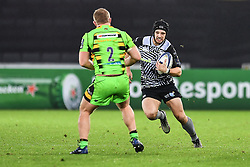 Ospreys' Dan Evans in action during todays match<br /> <br /> Photographer Craig Thomas/Replay Images<br /> <br /> EPCR Champions Cup Round 4 - Ospreys v Northampton Saints - Sunday 17th December 2017 - Parc y Scarlets - Llanelli<br /> <br /> World Copyright © 2017 Replay Images. All rights reserved. info@replayimages.co.uk - www.replayimages.co.uk