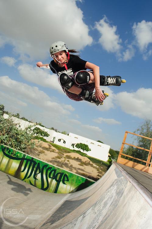 Half pipe Roller blade Jump in Dubai