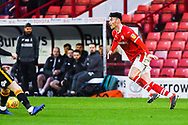 Kieffer Moore of Barnsley (19) in action during the EFL Sky Bet League 1 match between Barnsley and Bradford City at Oakwell, Barnsley, England on 12 January 2019.