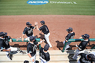 04 June 2016: Nova Southeastern's Andrew Liberty (1). The Nova Southeastern University Sharks played the Millersville University Marauders in Game 14 of the 2016 NCAA Division II College World Series  at Coleman Field at the USA Baseball National Training Complex in Cary, North Carolina. Nova Southeastern won the game 8-6 and clinched the NCAA Division II Baseball Championship.