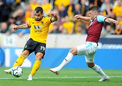 Jonny of Wolverhampton Wanderers is challenged by Jeff Hendrick of Burnley- Mandatory by-line: Nizaam Jones/JMP- 16/09/2018 - FOOTBALL - Molineux - Wolverhampton, England - Wolverhampton Wanderers v Burnley - Premier League