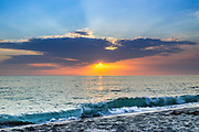 Tamarac Beach At Sunset