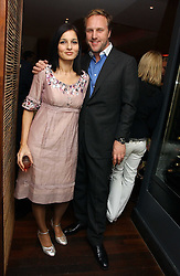 SIMON & YASMIN MILLS at a St.Valentine's dinner hosted by Ruinart champagne at Tom Aikens Restaurant, Elystan Street, London on 6th February 2007.<br /><br />NON EXCLUSIVE - WORLD RIGHTS
