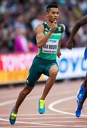 06-08-2017 IAAF World Championships Athletics day 4, London<br /> Wayde van Niekerk RSA 200 meter