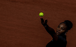 May 29, 2018 - Paris, France - Serena Williams of United States serves against Kristyna Pliskova of Czech Republic during the first round at Roland Garros Grand Slam Tournament - Day 3 on May 29, 2018 in Paris, France. (Credit Image: © Robert Szaniszlo/NurPhoto via ZUMA Press)