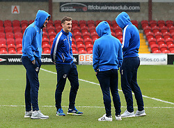 Bristol Rovers players inspect the pitch at Highbury - Mandatory by-line: Robbie Stephenson/JMP - 02/04/2018 - FOOTBALL - Highbury Stadium - Fleetwood, England - Fleetwood Town v Bristol Rovers - Sky Bet League One