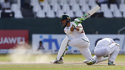 July 22, 2018 - Colombo, Sri Lanka - South African cricket captain Faf Du Plessis plays a shot during the 3rd day's play in the 2nd test cricket match between Sri Lanka and South Africa at SSC International Cricket ground, Colombo, Sri Lanka on Sunday  22 July 2018  (Credit Image: © Tharaka Basnayaka/NurPhoto via ZUMA Press)