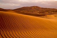 Sand Dunes at Erg Chebbi, Sahara Desert, Morocco