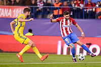 Atletico de Madrid's player Yannick Carrasco and CF Rostov's player Papa Gueye during a match of UEFA Champions League at Vicente Calderon Stadium in Madrid. November 01, Spain. 2016. (ALTERPHOTOS/BorjaB.Hojas)