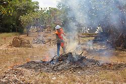 Burning Brush In Advance Of Demining