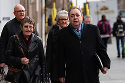 Edinburgh, Scotland, UK. 18 March, 2020.  Alex Salmond arrives at High Court in Edinburgh on the eighth day of his trial.  Iain Masterton/Alamy Live News
