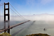 View of the Golden Gate Bridge from the Vista Point Road, San Francisco, California, 2009