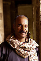 Egyptian man, Temple of Seti I, Abydos, Egypt
