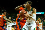 ]WACO, TX - JANUARY 3: Isaiah Austin #21 of the Baylor Bears drives to the basket against the Savannah State Tigers on January 3, 2014 at the Ferrell Center in Waco, Texas.  (Photo by Cooper Neill) *** Local Caption *** Isaiah Austin