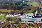 Nederland, Utrecht, De Bilt, 10-01-2011;.KNMI, het Koninklijk Nederlands Meteorologisch Instituut in de Bilt. .KNMI, the Royal Dutch Meteorological Institute in De Bilt..luchtfoto (toeslag), aerial photo (additional fee required).foto/photo Siebe Swart