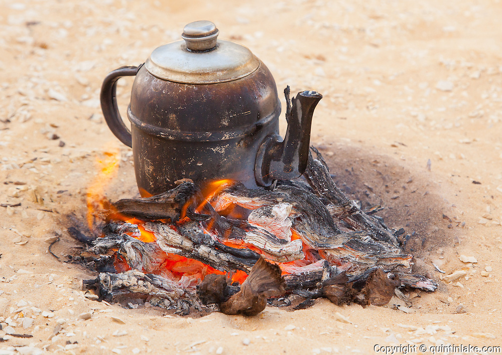 Bedouin Tea, served extra sweet. Western Desert, Egypt