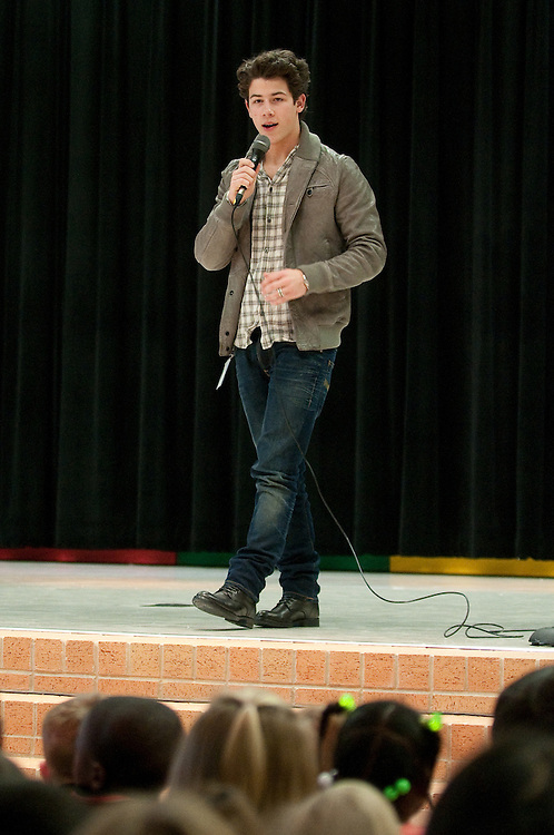 """Mark Matson For USO (12/11/09)  The USO hosted a """"Community Strong"""" event at Ft. Hood, Friday December 11, 2009. Singer Nick Jonas made an appearance at Meadows Elementary School."""