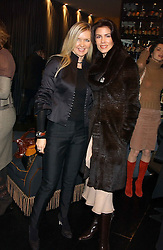 Left to right, AMANDA WAKELEY and  CHRISTINA ESTRADA JUFFALI  at the 1st Baglioni Hotel's Designer Lunch featuring designs by Amanda Wakelel held at The Baglioni Hotel, 60 Hyde Park gate, London on 1st February 2006.<br />