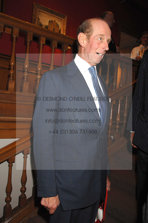The DUKE OF KENT at a reception to launch the Knight of Glin's book 'Irish Furniture' and Harry Erne's book 'Freddy Lond Ears' held at Christie's, 8 King Street, London SW1 on 3rd May 2007.<br /><br />NON EXCLUSIVE - WORLD RIGHTS