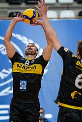 Freek de Weijer of Dynamo in action during the second final league match between Amysoft Lycurgus vs. Draisma Dynamo on April 24, 2021 in Groningen.