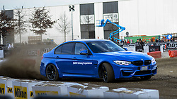November 13, 2016 - Milan, Italy - A Bmw M2 in drifting  is presented during the EICMA, the International fair for cycles and motocycles, on November 13, 2016 in Milan. (Credit Image: © Roberto Silvino/NurPhoto via ZUMA Press)
