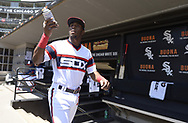 CHICAGO - JUNE 02:  Tim Anderson #7 of the Chicago White Sox walks through the dugout prior to the game against the Cleveland Indians on June 2, 2019 at Guaranteed Rate Field in Chicago, Illinois.  (Photo by Ron Vesely)  Subject:  Tim Anderson