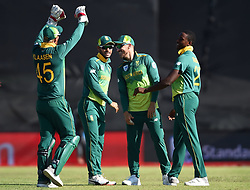 Cape Town-181006-South African celebrates Kagiso Rabada's second weeket against  Zimbabwean,as he bowled out Sean Williams  in the 3rd ODI match at Boland Park cricket stadium. .Photographer:Phando Jikelo/African News Agency(ANA)