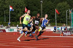 Men's 200m race. Folksam Grand Prix Göteborg, Slottskogsvallen, 14. juni 2014.