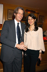 MR & MRS FERDINAND GROSS at a dinner hosted by Stratis & Maria Hatzistefanis at Annabel's, Berkeley Square, London on 24th March 2006 following the christening of their son earlier in the day.<br /><br />NON EXCLUSIVE - WORLD RIGHTS