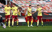 Football - 2020 / 2021 Premier League - Manchester United vs Burnley - Old Trafford<br /> <br /> James Tarkowski of Burnley celebrates his goal at Old Trafford<br /> <br /> Credit COLORSPORT/LYNNE CAMERON