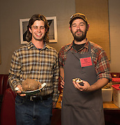"""Breeder Alex Wenger from Lancaster County Pennsylvania brought Chef Ben Meyer of Old Salt Marketplace to create a tasting to highlight Apios Americana, in the dish called """"Apios Three Ways"""", crispy chips, creamy puree, and marinaded ribbons, each highlighted a different trait of the tubers."""
