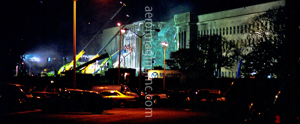 PENTAGON POST 9/11 night image
