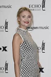 April 12, 2018 - Berlin, Germany - Carolin Niemczyk.Echo Pop Verleihung, Berlin, Germany - 11 Apr 2018.Credit: MichaelTimm/face to face (Credit Image: © face to face via ZUMA Press)