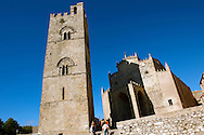 Torre de Re Frederico 2nd, Érice Duomo [Erice cathedral], Sicily stock photos. .<br /> <br /> Visit our SICILY PHOTO COLLECTIONS for more   photos  to download or buy as prints https://funkystock.photoshelter.com/gallery-collection/2b-Pictures-Images-of-Sicily-Photos-of-Sicilian-Historic-Landmark-Sites/C0000qAkj8TXCzro<br /> <br /> <br /> Visit our MEDIEVAL PHOTO COLLECTIONS for more   photos  to download or buy as prints https://funkystock.photoshelter.com/gallery-collection/Medieval-Middle-Ages-Historic-Places-Arcaeological-Sites-Pictures-Images-of/C0000B5ZA54_WD0s