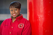 Tesha Foreman poses for a photograph at Fleming Middle School, February 13, 2015.
