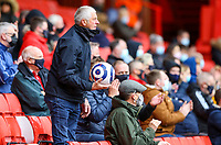 A Sheffield United fan throws the match ball back onto the pitch<br /> <br /> Photographer Alex Dodd/CameraSport<br /> <br /> The Premier League - Sheffield United v Burnley - Sunday 23rd May 2021 - Bramall Lane - Sheffield<br /> <br /> World Copyright © 2021 CameraSport. All rights reserved. 43 Linden Ave. Countesthorpe. Leicester. England. LE8 5PG - Tel: +44 (0) 116 277 4147 - admin@camerasport.com - www.camerasport.com