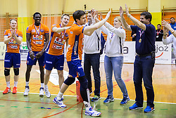 Nathan Roberts of ACH celebrates as MVP after winning during volleyball match between ACH Volley   and Salonit Anhovo in Final of Slovenian Cup 2014/15, on January 17, 2015 in Sempeter, Slovenia. Photo by Vid Ponikvar / Sportida