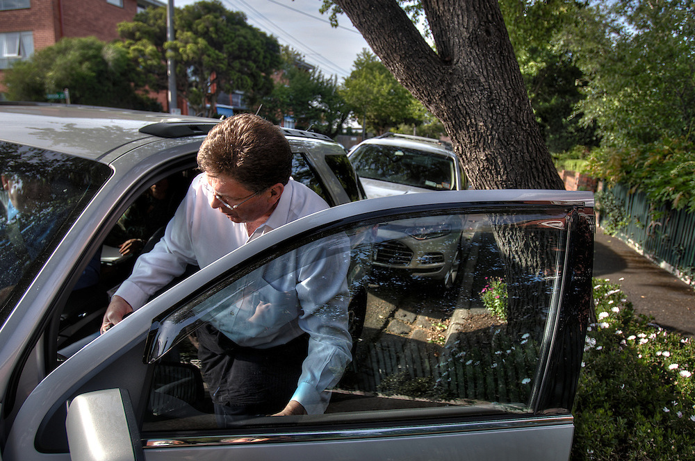 Victorian Premier Ted Baillieu after one year in office. being picked up at home in the morning by driver John. Pic By Craig Sillitoe CSZ/The Sunday Age.21/11/2011 melbourne photographers, commercial photographers, industrial photographers, corporate photographer, architectural photographers, This photograph can be used for non commercial uses with attribution. Credit: Craig Sillitoe Photography / http://www.csillitoe.com<br /> <br /> It is protected under the Creative Commons Attribution-NonCommercial-ShareAlike 4.0 International License. To view a copy of this license, visit http://creativecommons.org/licenses/by-nc-sa/4.0/.
