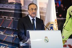 July 23, 2018 - Madrid, Spain - Real Madrid president, Florentino Perez during presentation of Andriy Lunin as new Real Madrid player at Santiago Bernabéu Stadium in Madrid, Spain. July 23, 2018. (COOLMEDIA/BorjaB.Hojas) (Credit Image: © Coolmedia/NurPhoto via ZUMA Press)