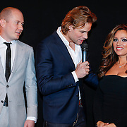 NLD/Amsterdam/20121206 - Onthulling Playboy Tatjana Simic kalender, hoofdredacteur Playboy, Dirk Taat en Tatjana