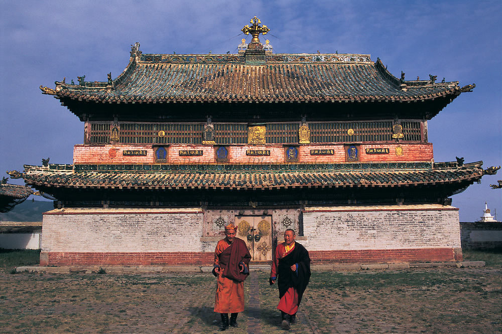 Zuu of Buddha Temple & Monks<br /> Eden Kuu Khiid Monastery<br /> Kara Korum<br /> Mongolia