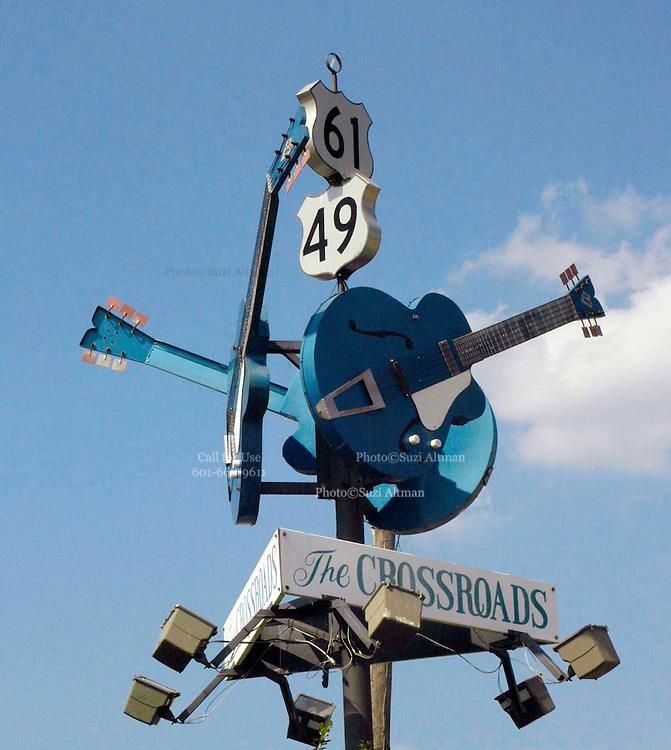 The crossroads Highway 49 & highway 61.Crossroad of the blues HWY49&HWY61. Photo©SuziAltman I have photographed the Mississippi Delta for over a decade. Including the rich cultural heritage, the deep religious roots and the music the land produces. ©SuziAltman