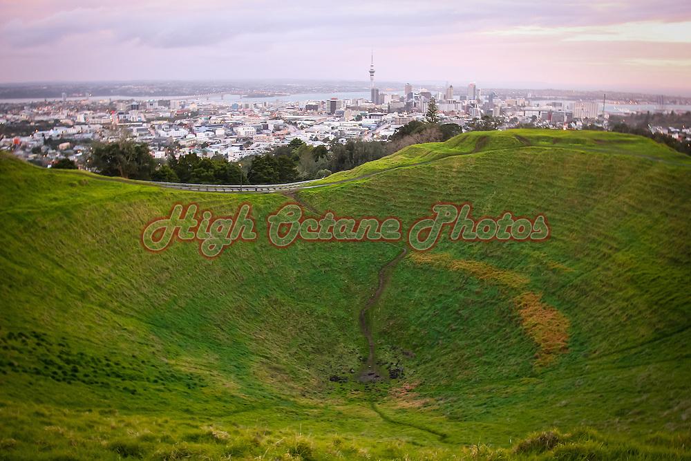 Crater of Mount Eden, Auckland.