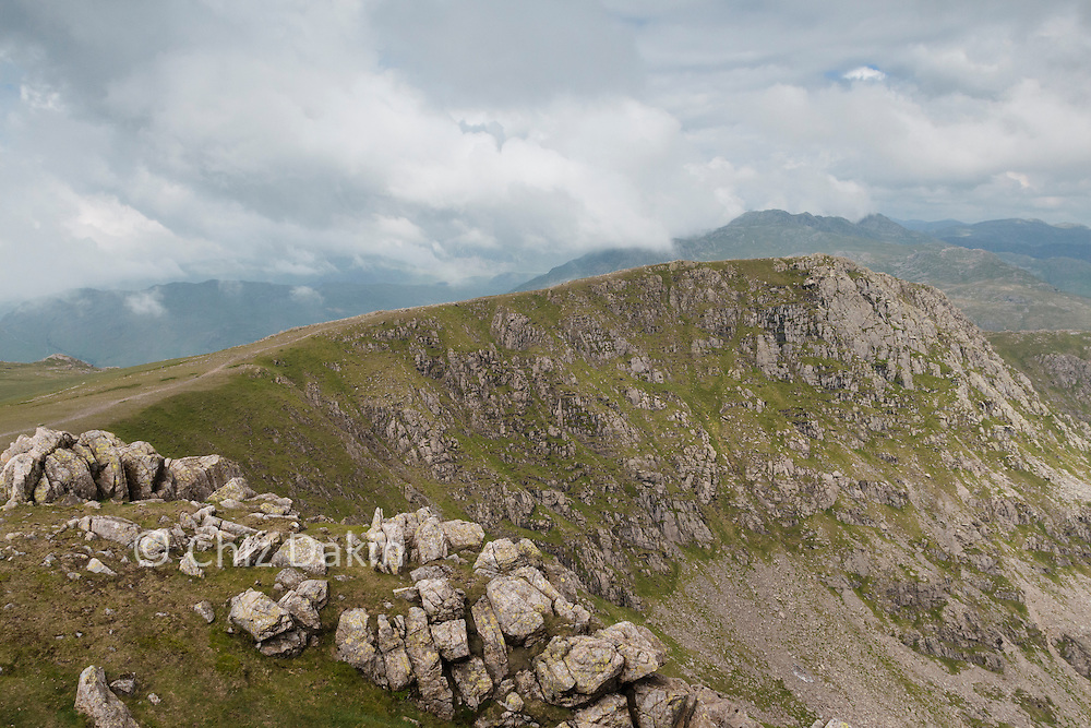 Swirl How summit looking W over Little Carrs