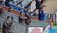 Leeds United manager Marcelo Bielsa and staff applaud before the match<br /> <br /> Photographer Alex Dodd/CameraSport<br /> <br /> The EFL Sky Bet Championship - Blackburn Rovers v Leeds United - Saturday 4th July 2020 - Ewood Park - Blackburn<br /> <br /> World Copyright © 2020 CameraSport. All rights reserved. 43 Linden Ave. Countesthorpe. Leicester. England. LE8 5PG - Tel: +44 (0) 116 277 4147 - admin@camerasport.com - www.camerasport.com