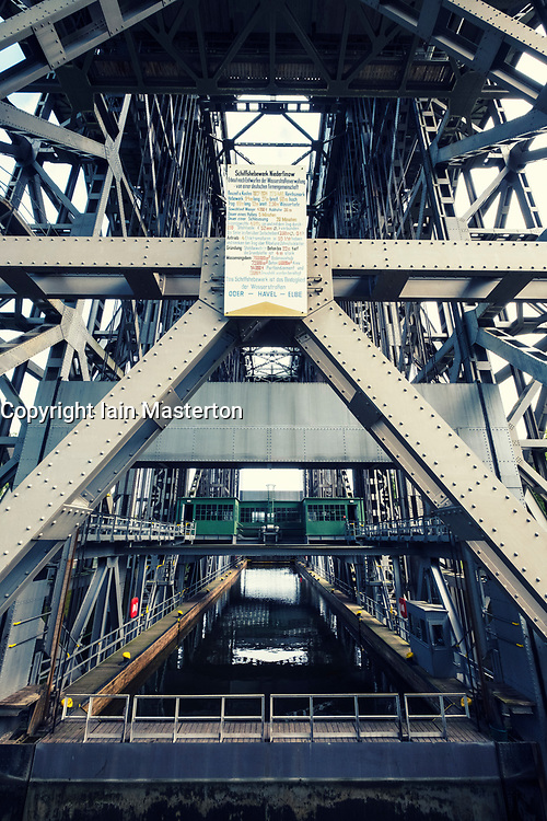 View of historic ship lift at Niederfinow in Brandenburg, Germany
