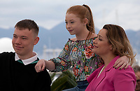 Rhys Stone, Katie Proctor and Debbie Honeywood at Sorry We Missed You film photo call at the 72nd Cannes Film Festival, Friday 17th May 2019, Cannes, France. Photo credit: Doreen Kennedy