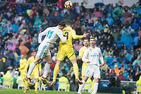 Real Madrid Gareth Bale and Villarreal Alvaro Gonzalez during La Liga match between Real Madrid and Villarreal CF at Santiago Bernabeu in Madrid, Spain. January 13, 2018. (ALTERPHOTOS/Borja B.Hojas)