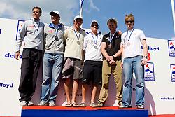 Medemblik - the Netherlands, May 31th 2009. Delta Lloyd Regatta in Medemblik (27/31 May 2009). Day 5, Medal races. 49er Podium.
