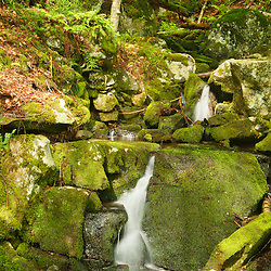 A small cascade near Chesterfield Gorge in Chesterfield, Massachusetts. Westfield River.